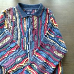 Roundtree and Yorke men's textured sweater